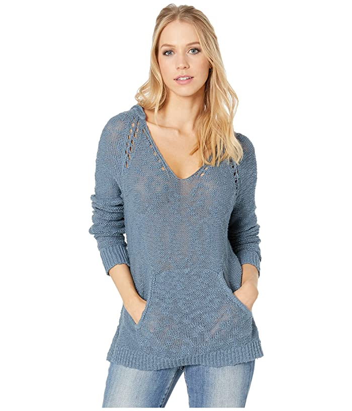 Roxy Airport Vibes Hooded Sweater (Blue Mirage) Women