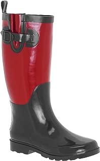 Capelli New York Ladies Two Tone Tall Rubber Rain Boot