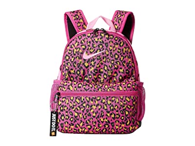Nike Kids Brasilia Just Do It Mini All Over Print Backpack (Little Kids/Big Kids) (Active Fuchsia/Psychic Pink/Psychic Pink) Backpack Bags