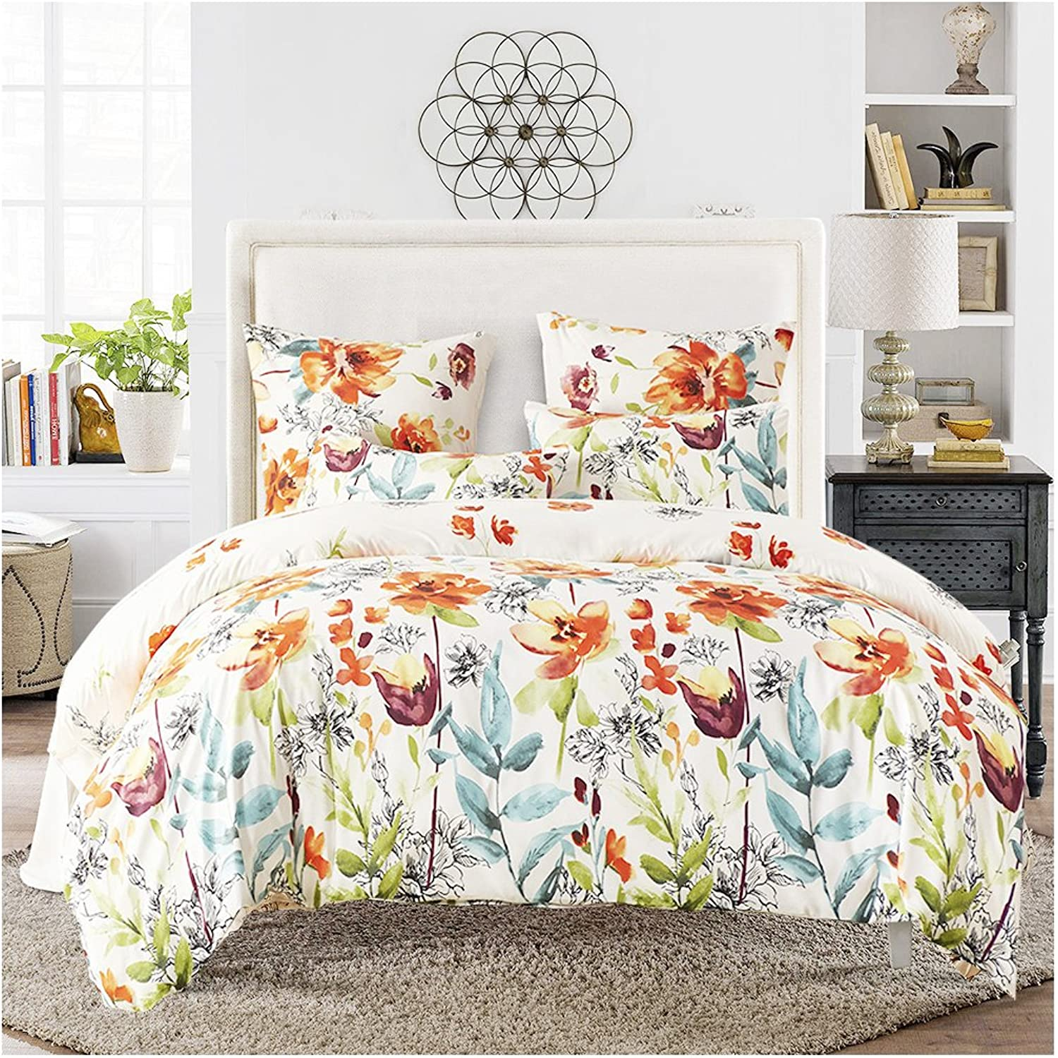 VERYBON Bedding Set Duvet Cover Set 3 Pieces, 1500 Thread Count Egyptian Quality,Super Soft and wrinkle free