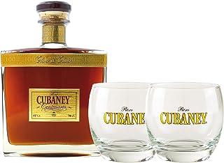 Ron Centenario Geschenk-Set- Ron CUBANEY Centenario, 41% vol. plus zwei edle Ron CUBANEY Barrel-Gläser.
