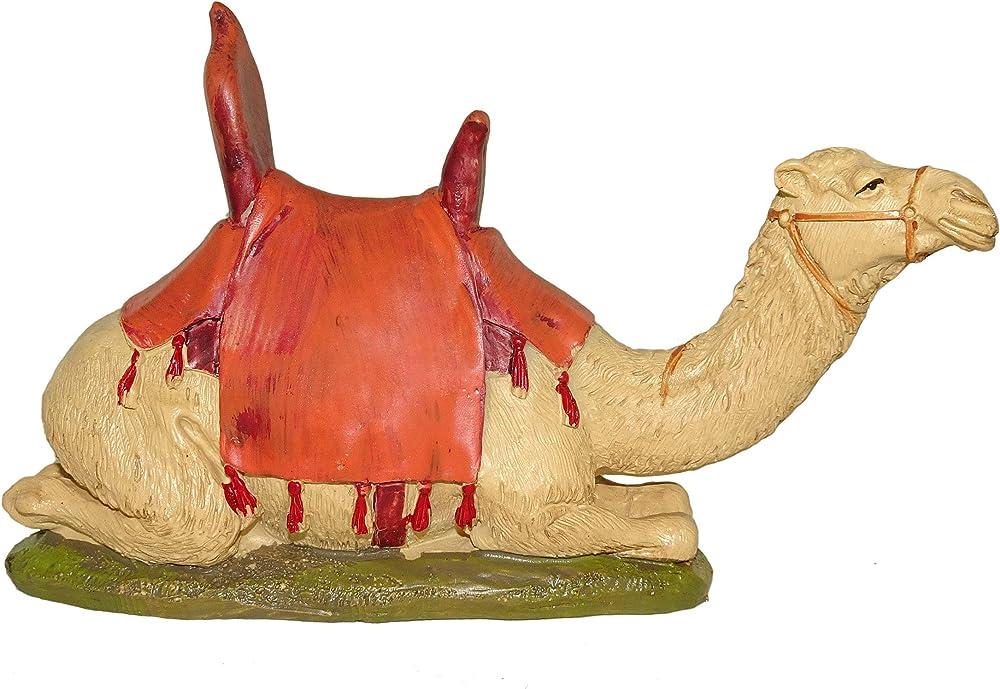 Ferrari & arrighetti statuina del presepe: cammello linea martino landi per presepe da cm 12 2412NA27