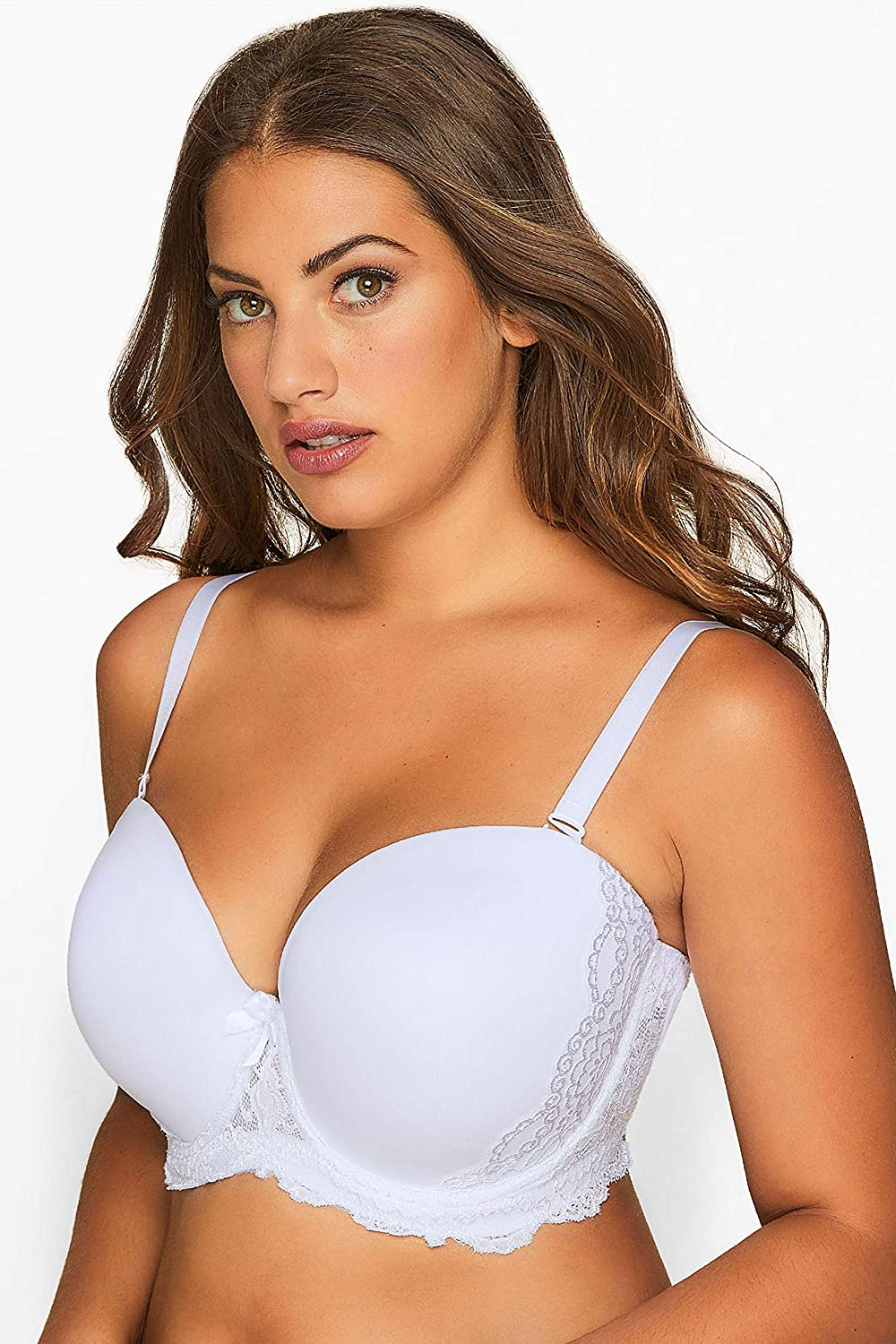 Yours Clothing Womens Multiway Lace Bra with Removable Straps