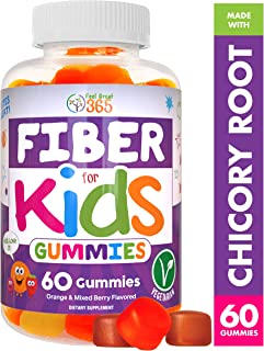 Prebiotic Fiber Gummies for Kids by Feel Great 365 | Improves Digestive Health, Gut Flora, Health & Immunity* | Vegetarian & Vegan Friendly Supplement | Gluten Free, Non-GMO, Made with Fruit Pectin