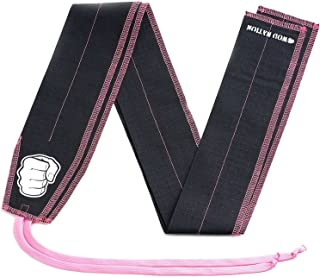WOD Nation Wrist Wraps Cloth Support Wraps for Strength - Superior Protection for Olympic Weightlifting, Cross Training, Powerlifting - Fits Men and Women - Free Carrying Bag - 100% Guarantee