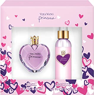 Vera Wang Princess 2-Piece Gift Set with 1-Ounce Eau de Toilette and 4-Ounce Body Mist, Total Retail Value $58.00