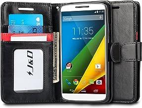 J&D Case Compatible for Moto Droid Turbo 2 Case, Moto X Force Case, [Wallet Stand]..