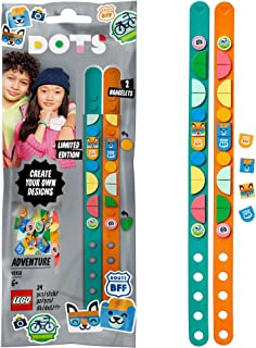 LEGO 41918 DOTS Adventure Bracelets Jewellery Set, Tiles DIY Gifts, Arts and Crafts for Kids