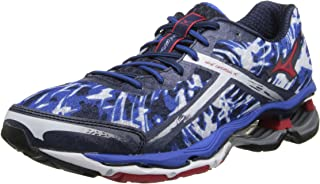 Mizuno Men's Wave Creation 15 Running Shoe,Olympian Blue/Chinese Red,14 D US