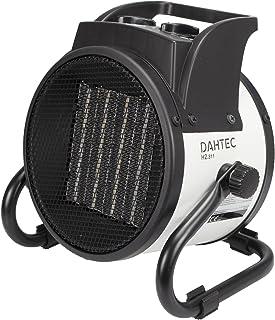 DAHTEC - H2.311 - Calefactor Ventilador eléctrico cerámica 2kW 2000 vatios - 3 Funciones Ajustables, termostato Regulable, 230 V - para el hogar, apartamento, Oficina, Taller, Camping, Garaje