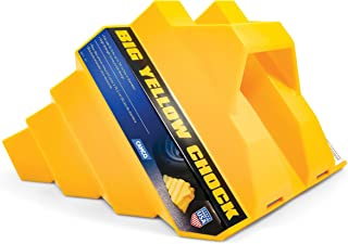 Camco Heavy Duty Big Yellow Chock - Helps Keep Your Trailer in Place So You Can Re-Hitch, Honeycomb Design for Extra Strength and Durability (44419)
