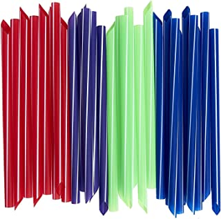 Extra-Wide Smoothie Straws [100 Pack] Bubble / Boba Tea Straws, Individually Wrapped, Assorted Colors