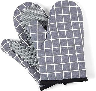 Voarge Rękawica do piekarnika, rękawice kuchenne, odporne na wysokie temperatury, silikonowe, antypoślizgowe rękawice do g...