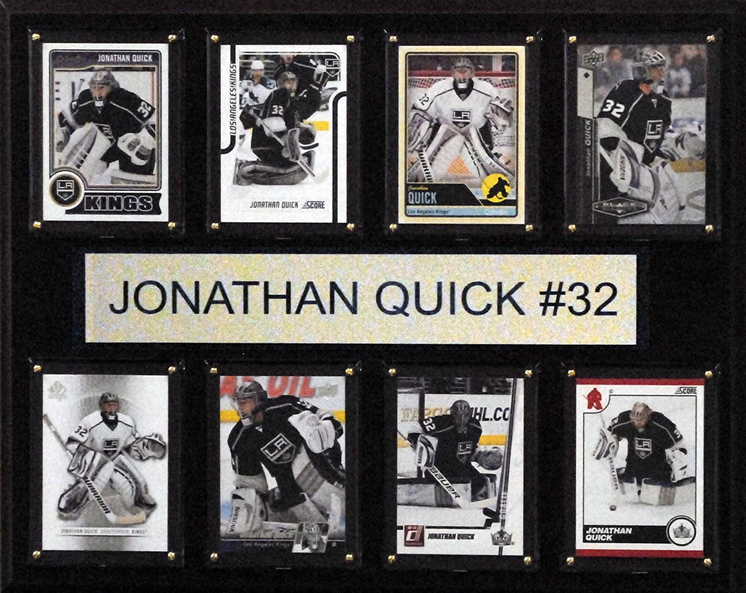 NHL Los Angeles Kings Jonathan Quick 8Card Plaque, 12 x 15Inch