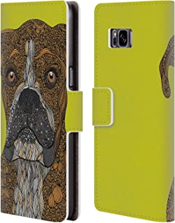 Official Valentina Boxer Dogs Leather Book Wallet Case Cover Compatible for Samsung Galaxy S8+ / S8 Plus