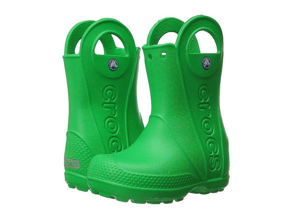 Crocs Kids Handle It Rain Boot (Toddler/Little Kid) (Grass Green) Kids Shoes