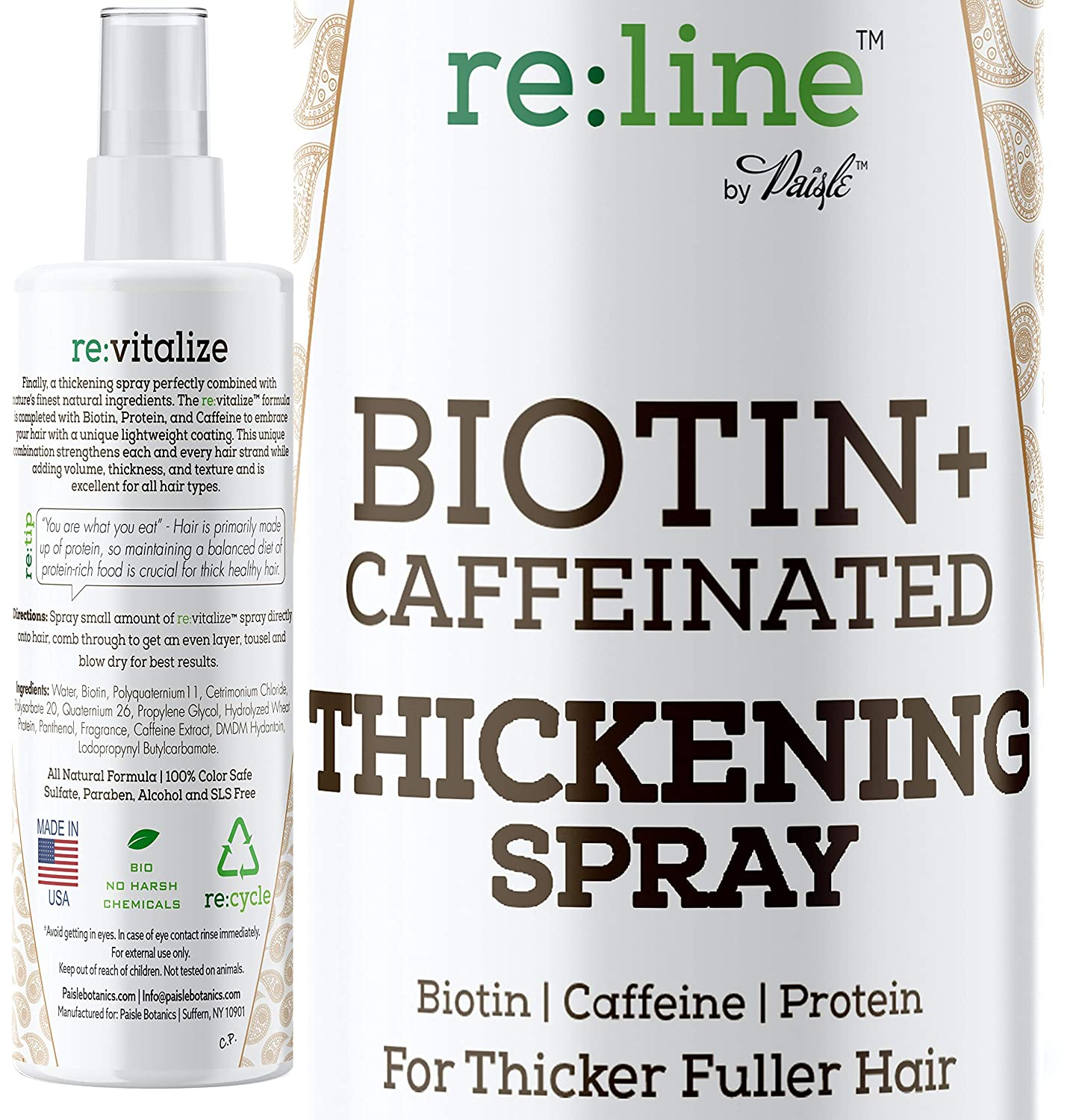 Surprise price Biotin Hair Baltimore Mall Thickening Spray Growth NATURAL for