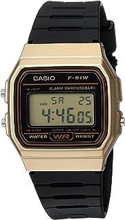 [カシオ]Casio 腕時計 'Classic' Quartz Metal and Resin Casual Watch, Color:Black F-91WM-9ACF メンズ [並行輸入品]