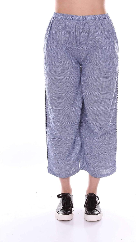 Akep Women's KE710blueE bluee Cotton Pants