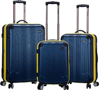 Rockland London Hardside Spinner Wheel Luggage, Navy, 3-Piece Set (20/24/28)