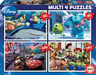 Educa - 15615 - Puzzle - Multi 4 en 1 Pixar