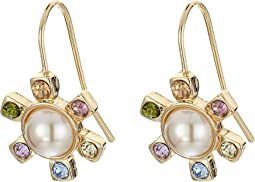 LAUREN Ralph Lauren - Pearls Rock Faceted Stone Flower Drop Earrings