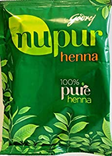Nupur Henna Powder Natural Mehndi for Hair Color with Goodness of 9 Herbs- 400gram X Pack of 2