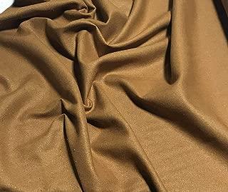 Caramel Brown - Raw Silk Noil Fabric