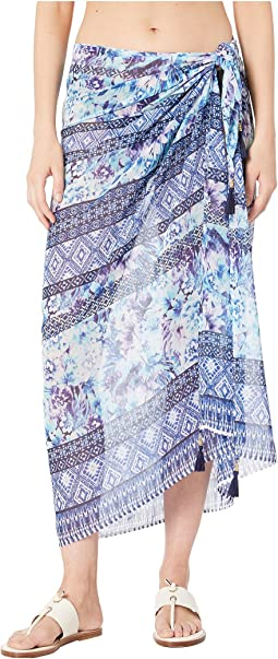 Aqua Petals Pareo Cover-Up