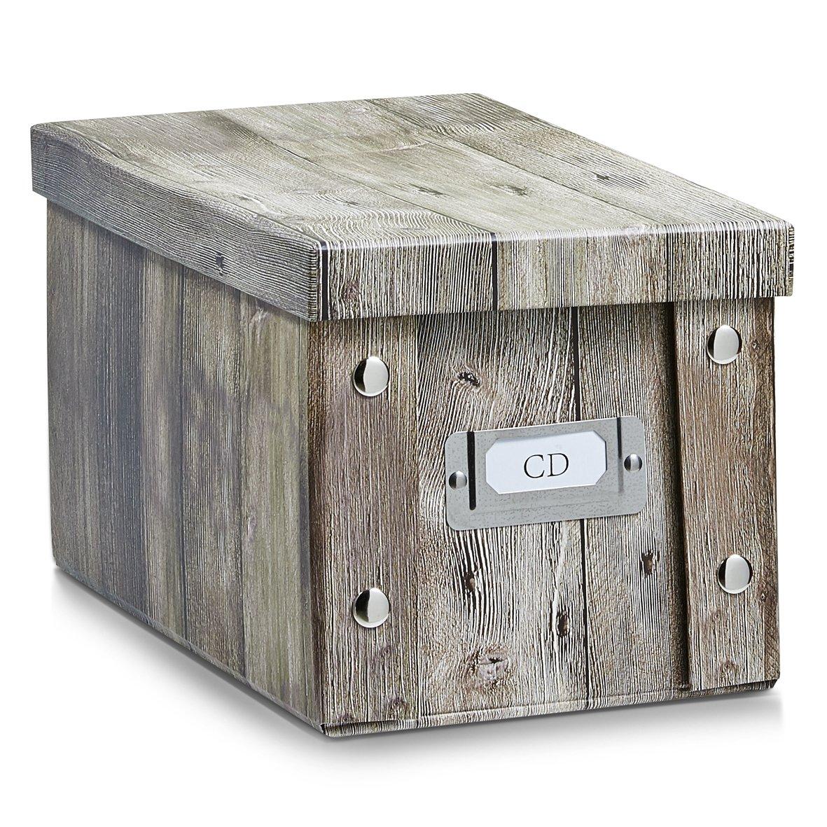 Zeller 17865 Caja de almacenaje de cartón Marrón (Braun) 16.5 x 28 x 15 cm: Amazon.es: Hogar