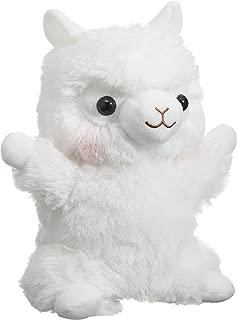 Amuse Shiro-chan Alpacasso Series Plush Alpaca Hand Puppet Doll White Llama Size (9