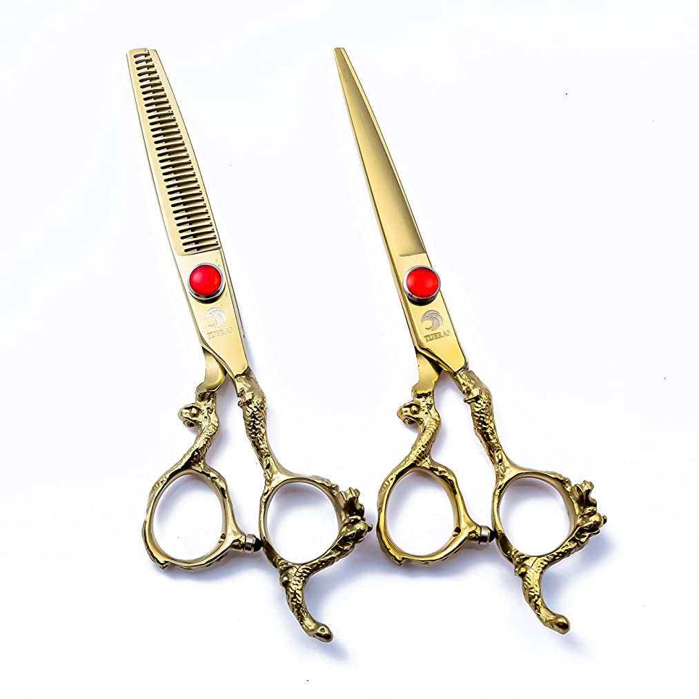 TIJERAS Professional Barber Hair Cutting and Thinning Texturizing Scissors Shears Set - 6.0