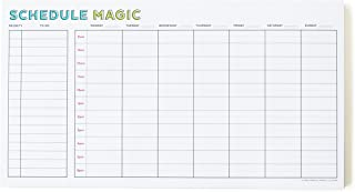 Schedule Magic Weekly Time Blocking to Do List Notepad, 52 Tear-Off Pages, Free Period Press