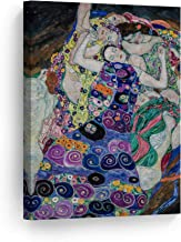 Smile Art Design The Maiden by Gustav Klimt Canvas Print Wall Art Famous Art Painting Reproduction Fine Art Oil Paintings Modern Art Home Decor Ready to Hang- Made in The USA- 40x30