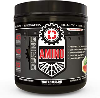 Driven Amino-BCAA Enhanced with Glutamine- Aids in Muscle Recovery, Increase Muscle Protein Synthesis, and Improve Lean Body Mass-Perfect 2:1:1 BCAA Ratio (Watermelon)