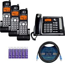 $214 » Motorola ML25254 Expandable Corded 2-Line Business Phone with Digital Answering System Bundle with 3-Pack of ML25055 DECT ...