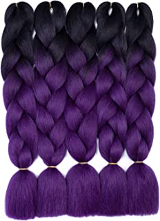 Ombre Jumbo Braiding Hair Extension Synthetic Kanekalon Fiber Kanekalon Jumbo Box Braiding Hair 24