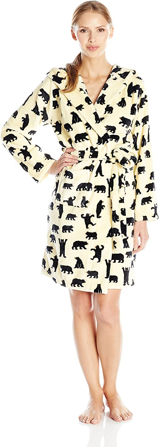 Hatley Damen Bademantel Adult Fleece Robes Robes Robes - schwarz Bears On Natural B00XUV76O4  Meistverkaufte weltweit c8c6bd