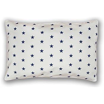 Amilian/® Kissen MIT F/ÜLLUNG Dekokissen 40cm x 60cm Sternchen blau