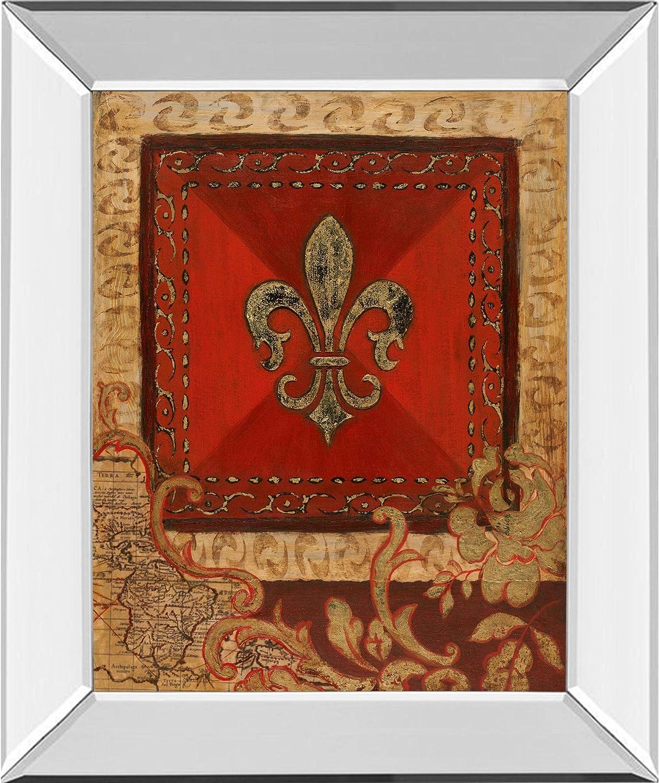 Contemporary Home Living Fleur Adorn List price l Art Max 75% OFF Wall Mirror Han Frame