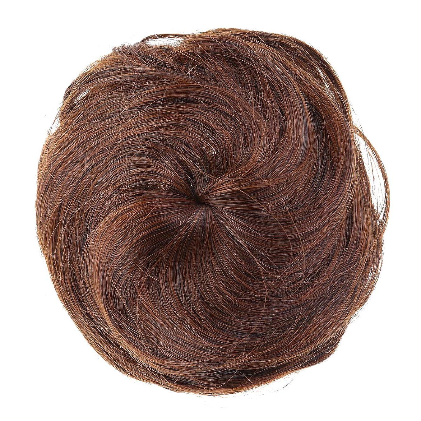 掻く造船デマンドLurrose 女性のための人工毛エクステンションシニョン女性の毛髪のかつらの装飾かつら装飾(ライトブラウン)