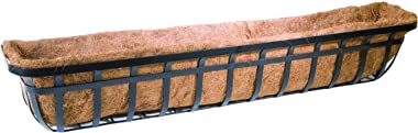 Panacea 88559 Flat Iron Window or Deck Planter, 48-Inch, Black
