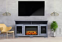 CAMBRIDGE Slate Blue Savona 59 in. Electric Fireplace Entertainment Stand