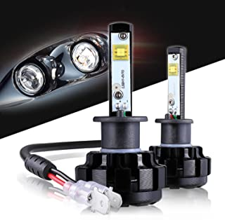 LED Headlight Bulbs H1 CREE Chips All-in-One Conversion Kit,12000 Lumen 6000K Cool White Anti-flicker Fit for High Beam Low Beam Fog Car Lights Replacement by Max5-2 Years Warranty