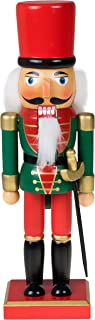 Clever Creations Traditional Christmas Green and Red Soldier Nutcracker | Soldier Outfit with Sword | Festive Christmas Decor | 10