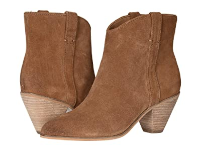 FRYE AND CO. Maley Pull Tab (Cognac Suede) Women