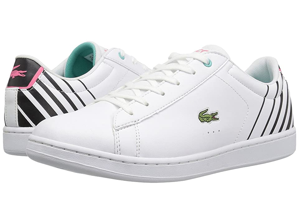 Lacoste Kids Carnaby Evo (Little Kid/Big Kid) (White/Black) Kids Shoes