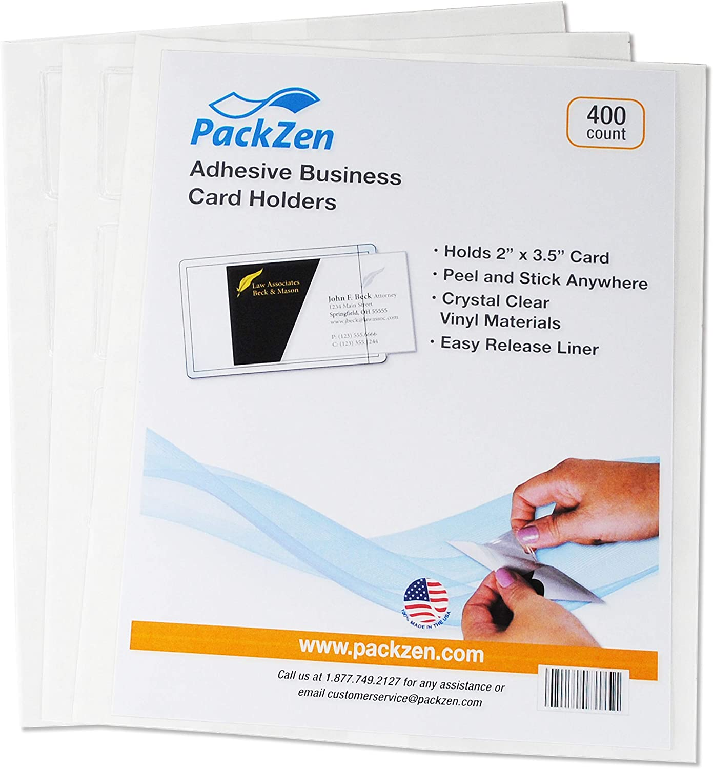 Adhesive Card Max 54% OFF Holder Short Great interest Side Case - 400 of