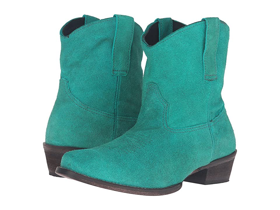 Roper Shania (Turquoise Suede) Cowboy Boots