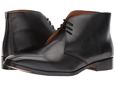 CARLOS by Carlos Santana Corazon Chukka Boot (Black Full Grain Calfskin Leather) Men